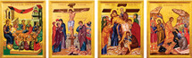 Holy Week and Pascha Icon Set - (MHP10)