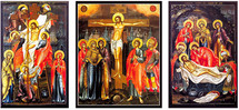 Palekh School Crucifixion icon Set - (MPS10)