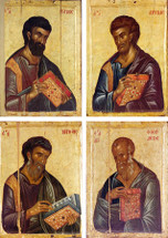 Four Evangelists Matched Icon Set - 14th c. - (MFE09)