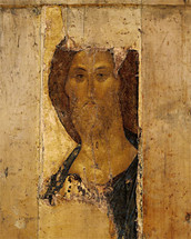 Icon of Rublev's Christ (Svenigorod) - 15th c. - (11J14)