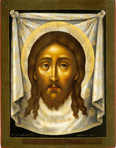 Icon of Made without Hands (Holy Napkin) - 18th c. Russian, - (11R13)