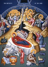 Icon of the Nativity of the Lord (Christmas) - 20th c. - (11A00)