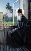 Elder Ambrose of Optina - Painting, 20th c. - (GEA20)
