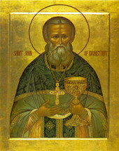 Icon of St. John of Kronstadt - 20th c. - (1JK12)