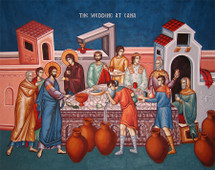 Icon of the Wedding at Cana - 20th. c. - (11P11)