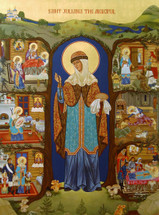 St. Juliana the Merciful of Lazarevo - (with scenes from her life) - (1JZ11)