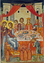Icon of the Wedding at Cana - 16th c. (Stavronikita) - (11P12)