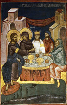 Icon of the Wedding at Cana - (Decani Monastery) - (11P13)