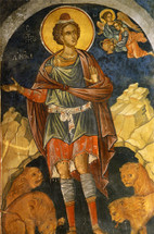 Icon of the Holy Prophet Daniel - 16th c. Cretan - (1DA24)