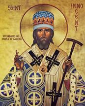 Icon of St. Innocent of Alaska (Byzantine) - (1IN12)
