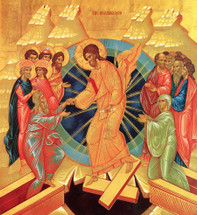 Icon of The Resurrection (Pascha or Easter) - 20th c. - Russian (11K18)