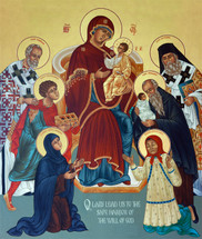 Icon of the Miraculous Healing Saints - 20th c. Ellwood City (1UN11)