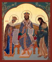 Icon of the Deisis - 20th c. Ellwood City - (11Z21)