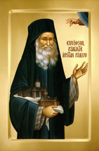 Icon of the Blessed Elder Justin P̢rvu of Romania - (1JU11)