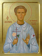 Icon of St. Alexander (Schmorell) the New Martyr - (1AL21)