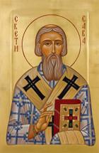 Icon of St. Sava of Serbia - 20th c. - (SSA12)