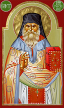 Icon of Saint Porphyrios of Kavsokalivia (Paschal vestments) - (1PO12)