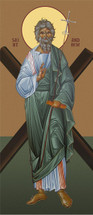 Icon of Apostle Andrew the First-called - with cross - (1AN08)
