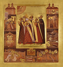 Icon of the Holy Brancoveanu Martyrs of Romania - (1BM10)