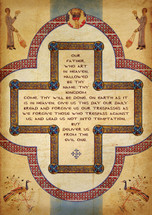 Lord's Prayer Cross - (POS10)