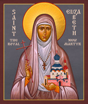 Icon of St. Elizabeth the New Martyr - 20th c. - (1EL28)