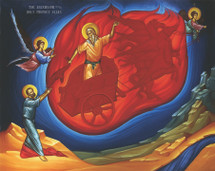 Icon of the Ascension of the Holy Prophet Elijah - (1EL23)
