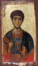 Icon of St. Demetrios - 14th c. Vatopedi - (1DE12)