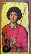 Icon of St. George - 14th c. Vatopedi - (1GE09)