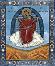 "Icon of The Theotokos ""She Who Ripens the Grain"" - (12G75)"