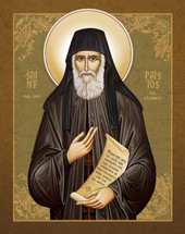 Icon of Saint Paisios the Athonite - English - (1PA47)