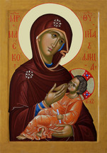 "Icon of the Theotokos the ""Milk-Giver"", Russian - (12G77)"