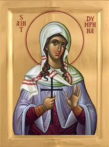 Icon of Saint Dymphna (Daphne) - 20th c. - English - (1DY10)