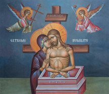 Icon of the Extreme Humility - 20th c. (fresco) - (11J19)