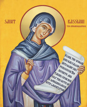Icon of St. Kassiani (Cassiani) - 20th c. - (1KS20)