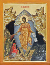 Icon of the Resurrection (Pascha or Easter) - 20th c. - (11K19)