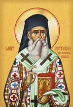 Icon of St. Nektarios - (English)  - (1NE17)