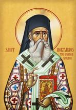 Icon of St. Nektarios - (English)  - (1NE17)