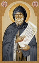 Icon of St. Benedict of Nursia - 20th c. - (1BE30)