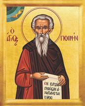 Icon of St. Poemen - 20th c. - (1PO20)