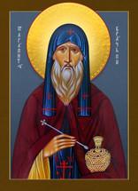 Icon of St. Agapit of Pechersk - 20th c. - (1AG10)