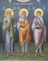 Icon of The Patriarchs Abraham, Isaac & Jacob - 20th c. - (1AB15)