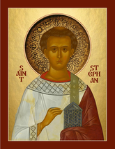 Icon of St. Stephen First Martyr - (Russian) - (1ST13)