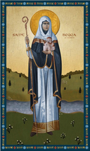Icon of St. Begga of Landen - 20th c. - (1BR30)