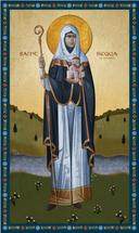 Icon of St. Begga of Landen - 20th c. - (1BR30)