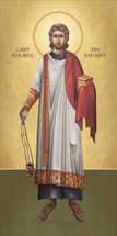 Icon of St. Romanos Melodist - (standing). - (1RO11)