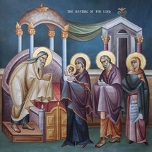 Icon of the Meeting of the Lord - (fresco) - (11B05)