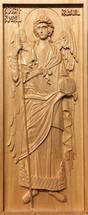 Wood-carved Icon of the Archangel Gabriel (set) - (WC13)