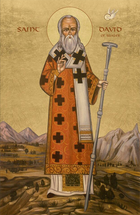 Icon of the St. David of Wales - 20th c. - (1DA15)
