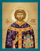 Icon of St. Ansgar of Hamburg - 20th c. - English - (1AN15)