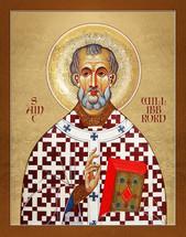 Icon of St. Willibrord of Utrecht - (1WE12)